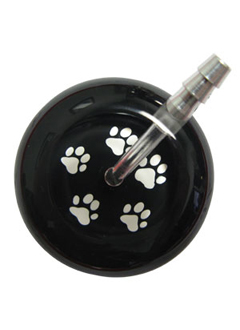 UltraScope Stethoscope Paw Prints 026 - Black