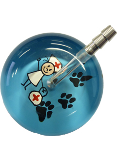 UltraScope Stethoscope Nurse 067 w/Paws - Light Blue