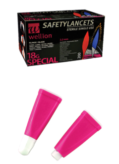 Wellionvet Safety Lancets 18G