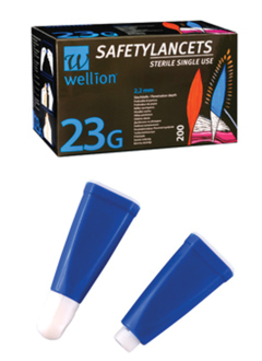 Wellionvet Safety Lancets 23G