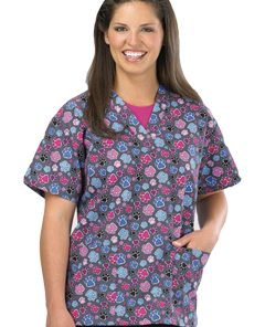 Scrub Tops - Printed