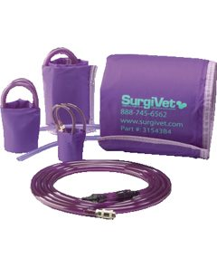 SurgiVet NIBP Purple Cuffs & Air Hose Set